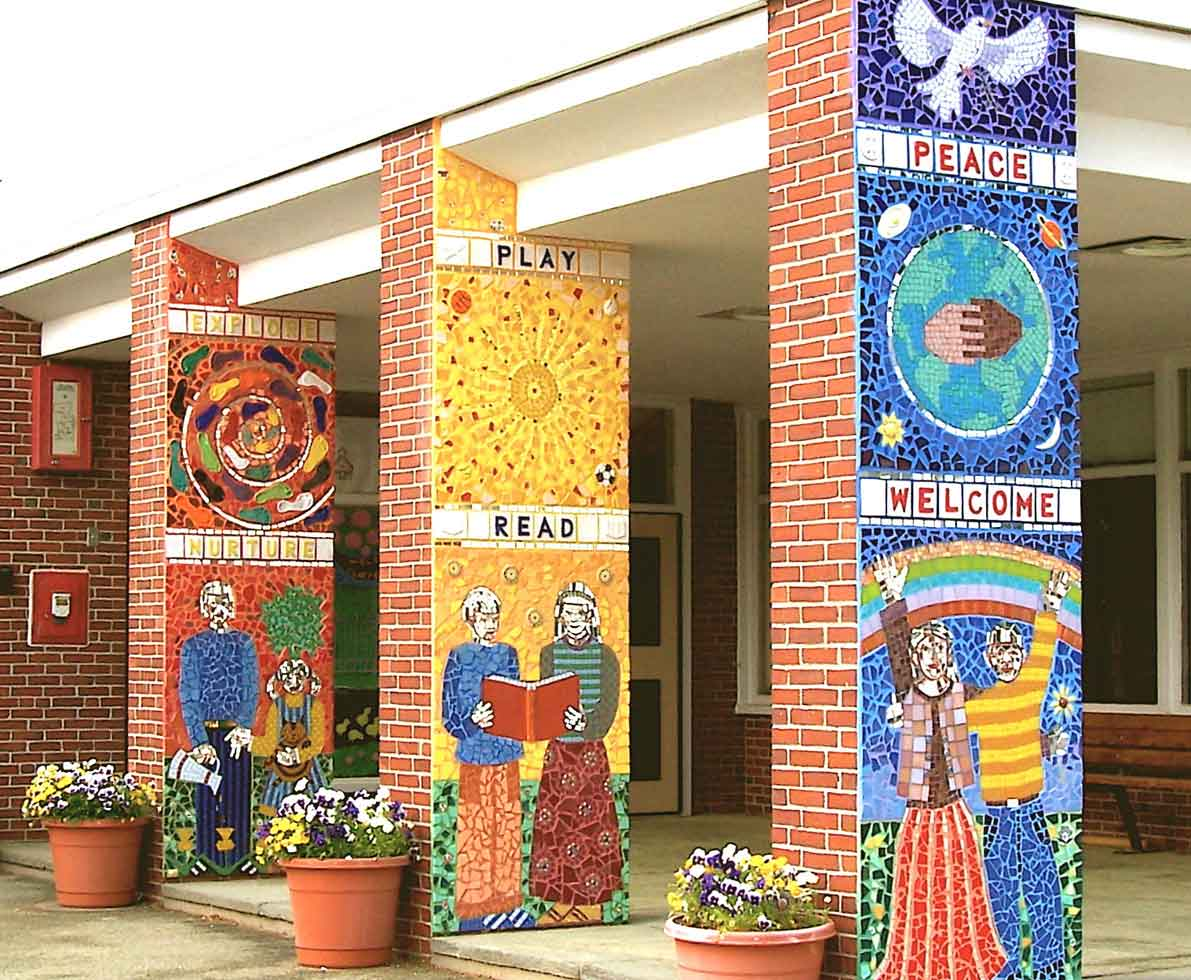 School mosaics community mosaics boston mosaic artist for Community mural ideas